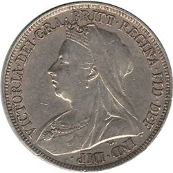 Great Britain 1896 Silver Shilling