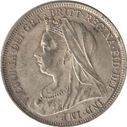 Great Britain 1898 Silver Shilling
