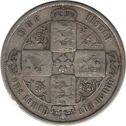 Great Britain 1871 Silver Florin