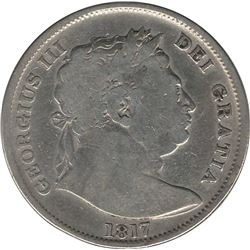 Great Britain 1817 Silver 1/2 Crown