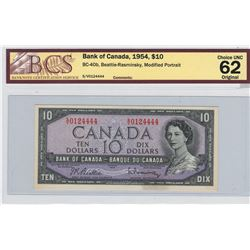 Canada 1954 $10 Banknote Bettie-Rasminsky S/V