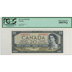 Canada 1954 $20 Banknote Beattie-Coyne H/E