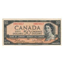 Canada 1954 $50 Banknote Beattie-Rasminsky B/H