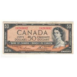 Canada 1954 $50 Banknote Lawson-Bouey B/H