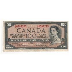 Canada 1954 $100 Banknote Beattie-Rasminsky B/J