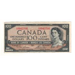 Canada 1954 $100 Banknote Lawson-Bouey C/J