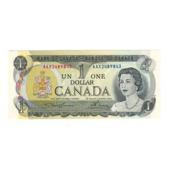Canada 1973 $1 Replacement Banknote Lawson-Bouey AAX