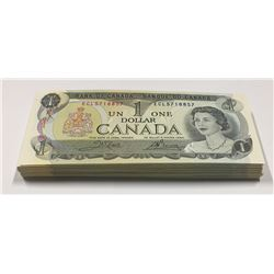 Canada 1973 $1 Banknotes 100 in UNC Condition