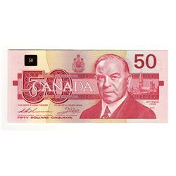 Canada 1988 $50 Banknote. FHK Prefix.