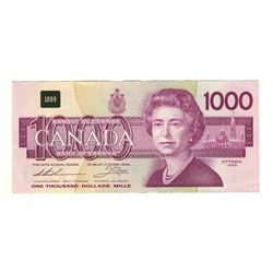 Canada 1988 $1000 Banknote. Thiessen-Crow EKA