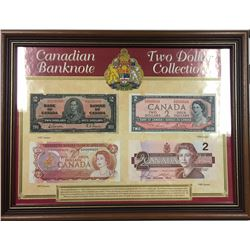 Canada Two Framed $1.00 & $2.00 Collections