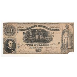 United States 1861 $10 Confederate States Richmond