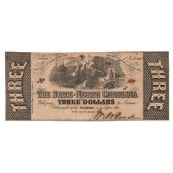 United States 1863 $3 The State of North Carolina