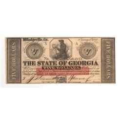 United States 1862 $5 State of Georgia