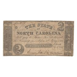 United States 1861 $2 State of North Carolina