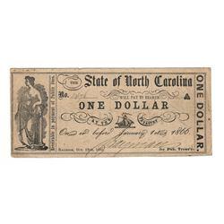 United States 1866 Dollar State of North Carolina