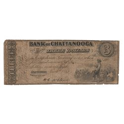 United States 1863 $3 Bank of Chattanooga