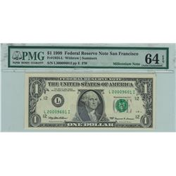 United States 1999 $1 Banknote Withrow Summers Millenium Note