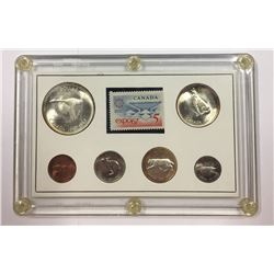 Canada 1967 Coin Set with Stamp