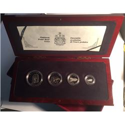 Canada 1990 Polar Bear Platinum 4 Coin Set