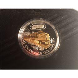 Canada 2003 $20 C.N.R. FA-1 Diesel Electric Locomotive Silver Coin