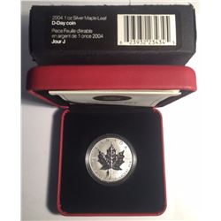 Canada 2004 $5 Silver 1 oz Maple with D-Day Privy