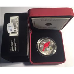 Canada 2008 25 Cents Northern Cardinal Coloured Coin