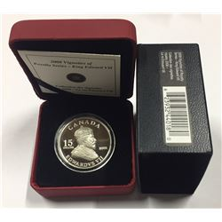 Canada 2008 $15 Vignettes of Royalty - King Edward VII Sterling Silver Coin