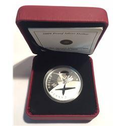 Canada 2009 $1 100th Anniversary of Flight in Canada Proof Silver Dollar