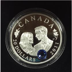 Canada 2011 $20  H.R.H. Prince William of Wales & Miss Catherine Middleton Wedding Celebration Silve