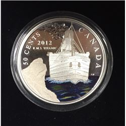 Canada 2012 50 Cent R.M.S. Titanic Silver-Plated Coloured Coin