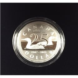 Canada 2012 $1 25th Anniversary of the Loonie Pure Silver Coin