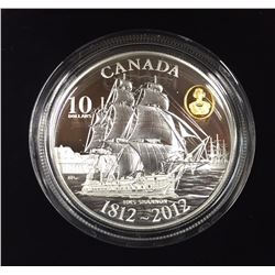 Canada 2012 $10 HMS Shannon Pure Silver Coin
