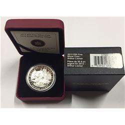 Canada 2012 $20 Arthur Lismer, Nova Scotia Fishing Village, Group of Seven, Silver Coin