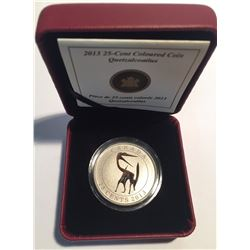 Canada 2013 25 Cents Quetzalcoatlus Dinosaur Glow in the Dark Coin