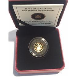 Canada 2013 50 Cents Owl Shaman Holding Goose Gold Coin