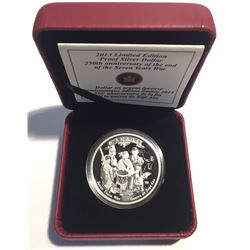 Canada 2013 $1 250th Anniversary of the End of the Seven Years War Pure Silver Coin