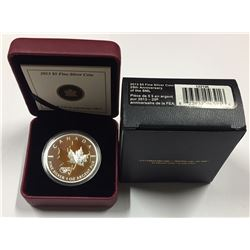 Canada 2013 $5 25th Anniversary of the $5 Silver Maple Leaf Coin