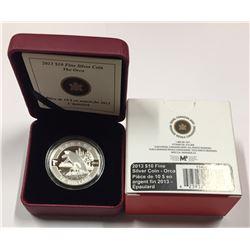 Canada 2013 $10 Orca O Canada Series 1/2 oz Pure Silver Coin