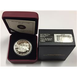 Canada 2013 $20 The Beaver Pure Silver Coin