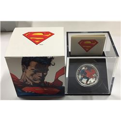 Canada 2013 $20 Superman™ Man of Steel™ Silver Coloured Coin