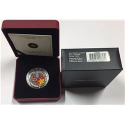 Canada 2013 $20 Holiday Season with Venetian Glass Candy Cane Silver 1 oz Coin