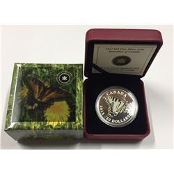 Canada 2013 $20 Canadian Butterfly Tiger Swallowtail Silver Coin