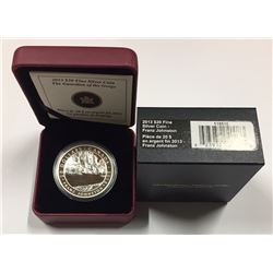 Canada: 2013 $20 Franz Johnston, The Guardian of the Gorge, Group of Seven, Silver Coin