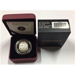 Canada 2013 $25 Grandmother Moon Mask Silver Coin