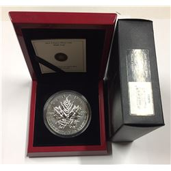 Canada 2013 $50 25th Anniversary of the Silver Maple Leaf Silver Coin