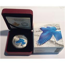 Canada 2016 $20 The Migratory Birds Convention: The Mountain Bluebird Fine Silver Coin