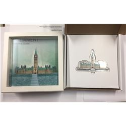 Canada 2017 Real Shape Iconic Canada Silver Parliament