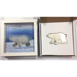 Canada 2017 Real Shape Iconic Canada Silver Polar Bear
