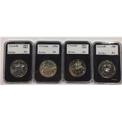 Canada Silver Dollar Collection - 8 Pieces